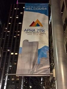 2016 11 01:  Denver, Colorado, APHA Meeting