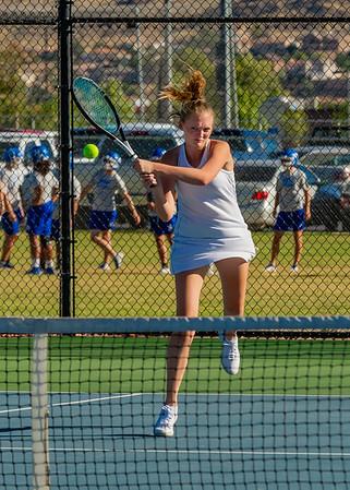 2019-09-19 Dixie HS Girls Tennis vs Canyon View - Varsity