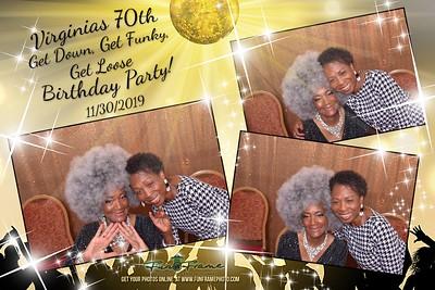 Virginia's 70th Birthday