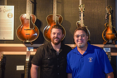 Vince Gill and Chris Young record podcast
