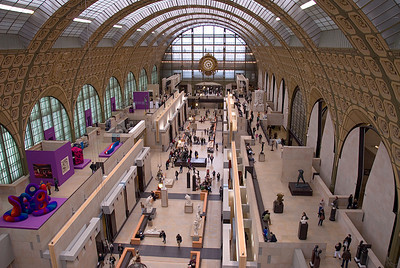 Musée d'Orsay, the main hall as taken from the pair of towers at the rear of the hall