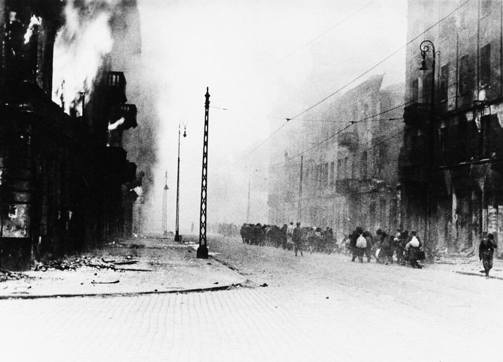 . This picture was in a report from Gen. Stroop SS commander to his commanding officer, and introduced in court showing the destruction of Warsaw in the spring of 1943, Poland. (AP Photo)