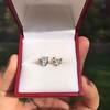 1.85ctw Old European Cut Diamond Stud Earrings 18