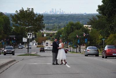 Lindsay and David -- overlooking the Minneapolis skyline