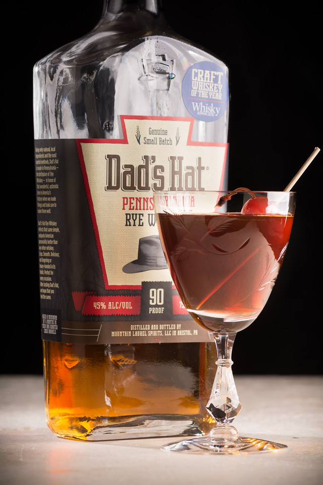 The Brooklyn Cocktail, made with Dad's Hat 90 proof Pennsylvania Rye Whiskey. Photo © 2018 Douglas M. Ford. All rights reserved.