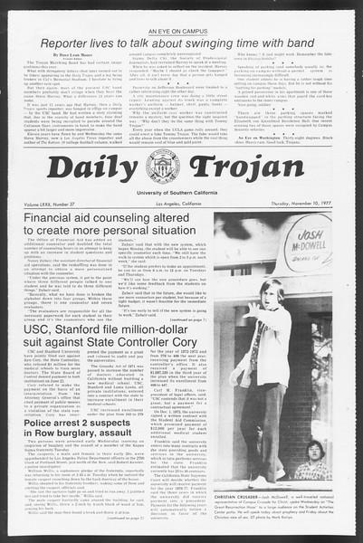 Daily Trojan, Vol. 72, No. 37, November 10, 1977