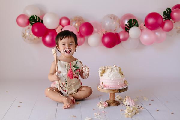 smash cake Emma