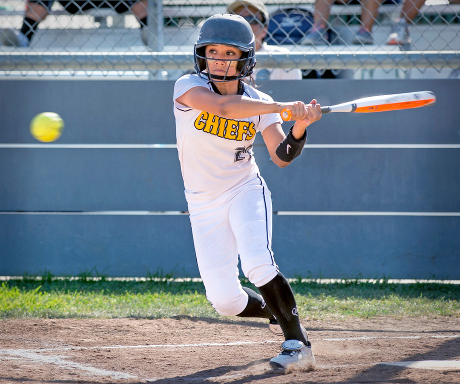 . Santa Fe High softball vs California High at the Santa Fe Springs campus field May 13, 2014.   (Staff photo by Leo Jarzomb/Whittier Daily News)