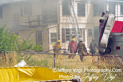 Gaithersburg 28 Box House Fire Training Burn, Photos by Jeffrey Vogt Photography