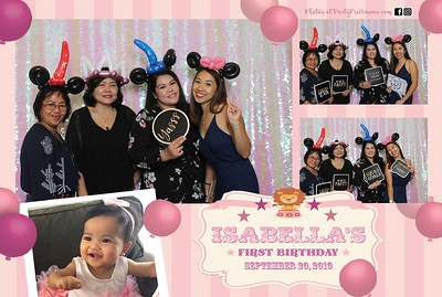 Isabella's 1st Birthday (Mini LED Open Air Photo Booth)