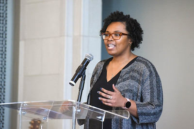 Dr. Heather Finch speaks in Chapel