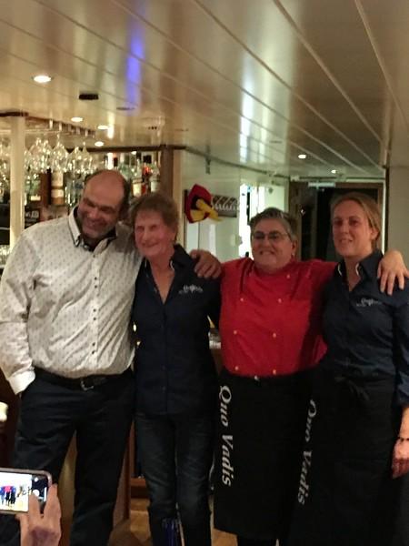 Quo Vadis crew - Bert, Mary Ann, Inma, Kim