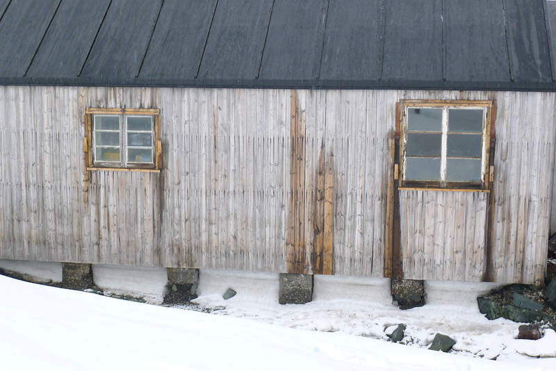 "South of the Antarctic Circle, Detaille Island, British scientific base ""W"" of the late 1950s at 66˚52'S, 66˚48'W"