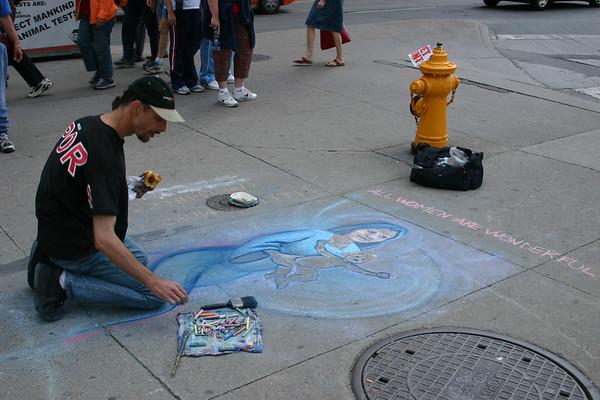 Downtown Art Show, July 2004
