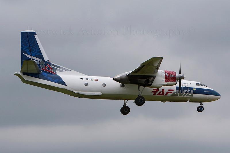 YL-RAE. Antonov An-26B. RAF Avia. Prestwick. 020607.