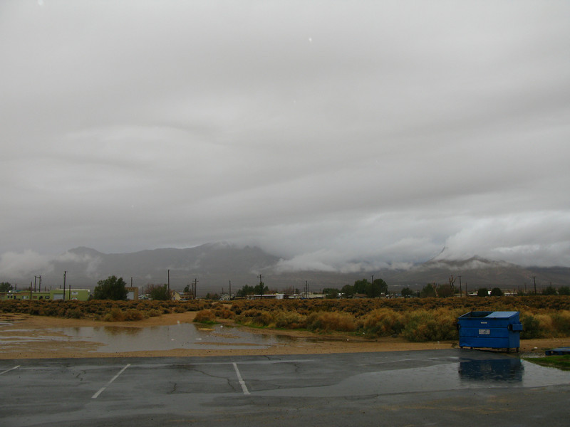 This was the weather from Inyokern in the morning. I wondered how it would be up at 8k feet,