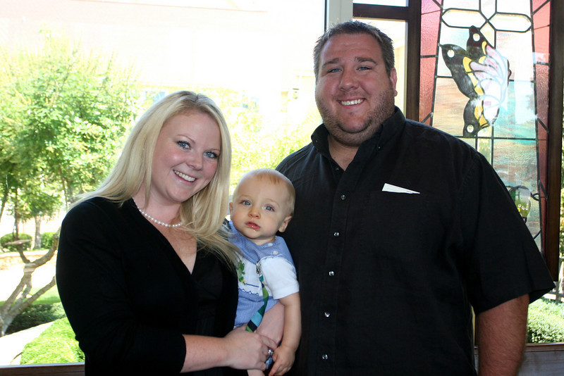 Courtney and Andrew Morgan with son Colter