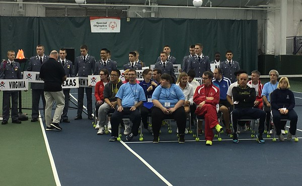Cadets Volunteer at the Special Olympics Tennis Tournament