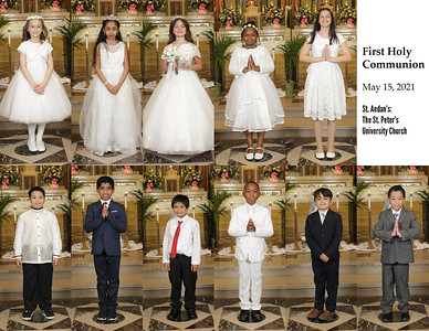 First Holy Communion at St. Aedan's - May 15, 2021