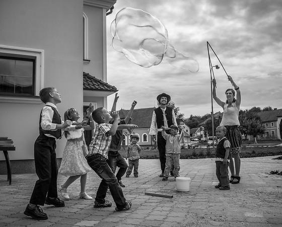 Děti a bublina