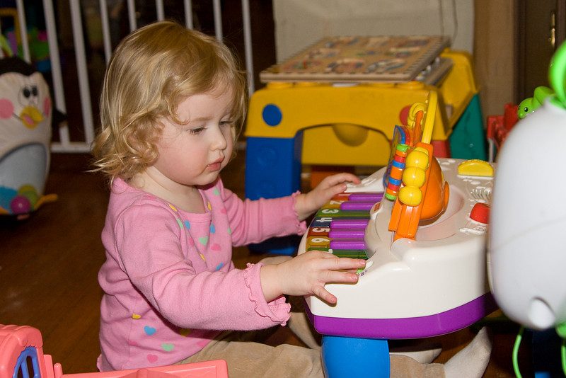 Beverly plays piano