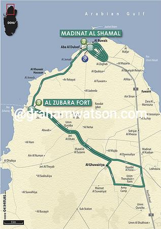 Tour of Qatar:  Stage 5 Al Zubara Fort > Madinat Al Shamal, 154kms