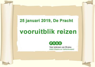 2019-0125 PVGE vooruitblik reizen