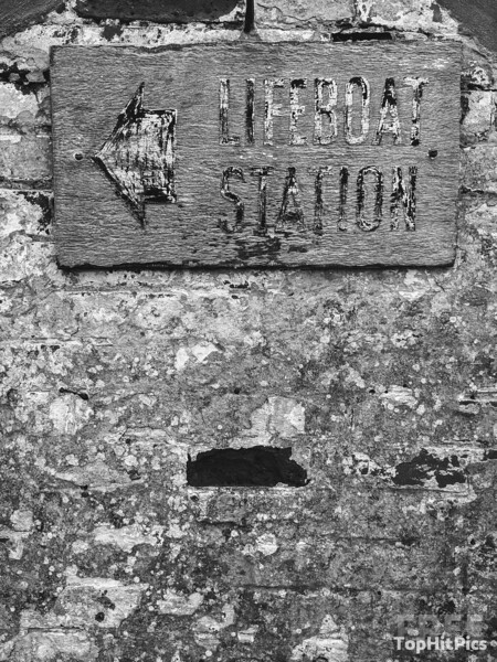 Lifeboat Station Sign at The Lizard in Cornwall, England