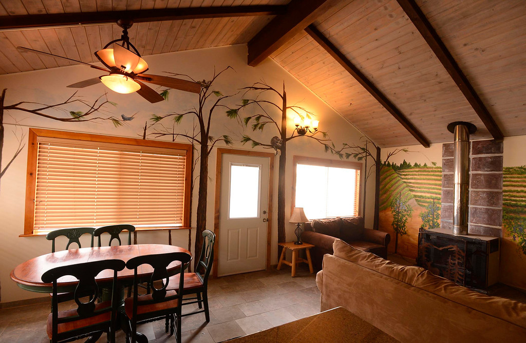 . A view of a cabin at David Stone\'s Wolf Creek Resort in Big Bear Lake May 6, 2013.  David Stone has a vision transforming Big Bear into a more upscale tourist town.  GABRIEL LUIS ACOSTA/STAFF PHOTOGRAPHER.