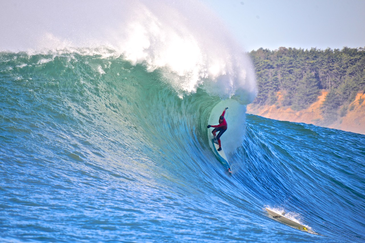 Pro Surfer Peter Mel at Mavericks.