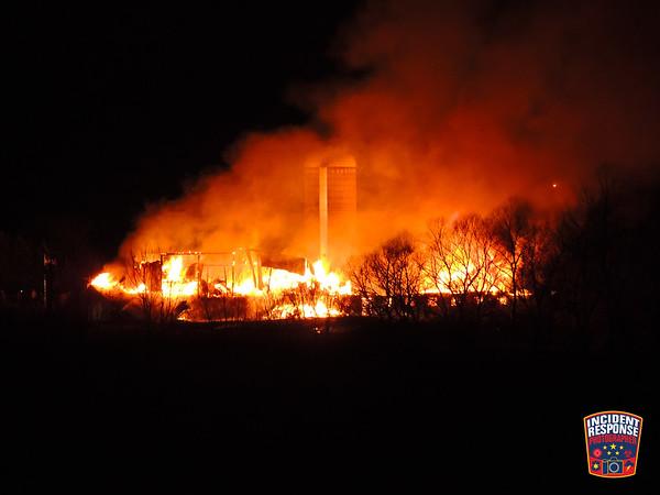 Barn fire on December 1, 2017