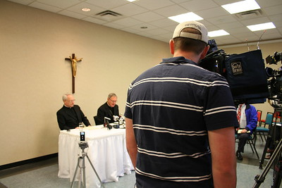 Press conference announcing Msgr. Evans to be named Auxiliary Bishop