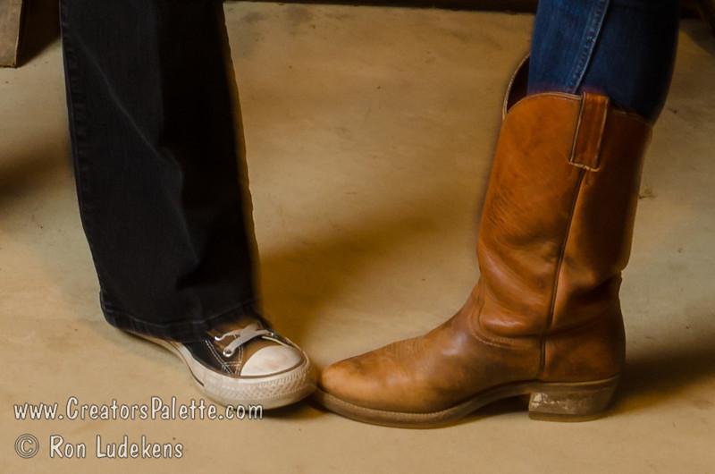 Varieties of footwear.  Which one helps you line dance better?