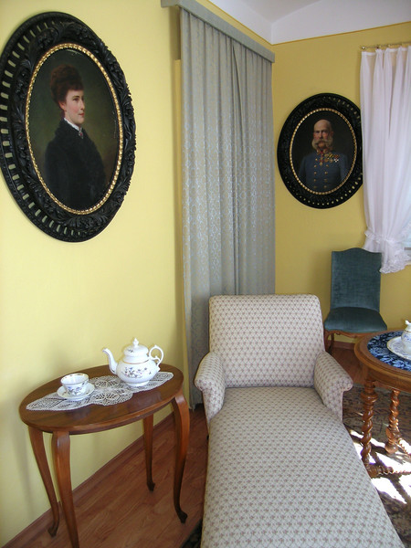 "A room within the Chapel - portraits of Emperor Franz Joseph and Empress Elisabeth ""Sisi"""