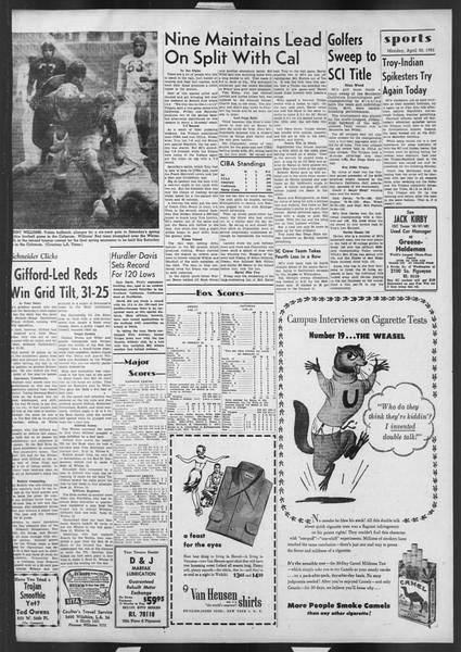 Daily Trojan, Vol. 42, No. 119, April 30, 1951