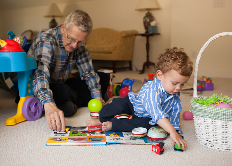 Both Grandpa and Ty enjoyed playing with the cars
