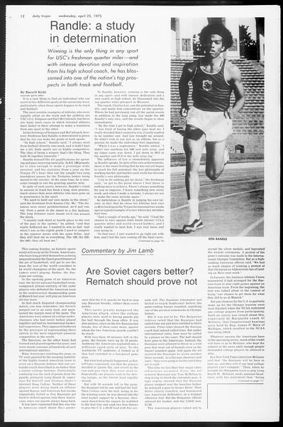Daily Trojan, Vol. 65, No. 113, April 25, 1973