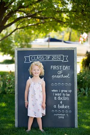 Nora [First day of Preschool]