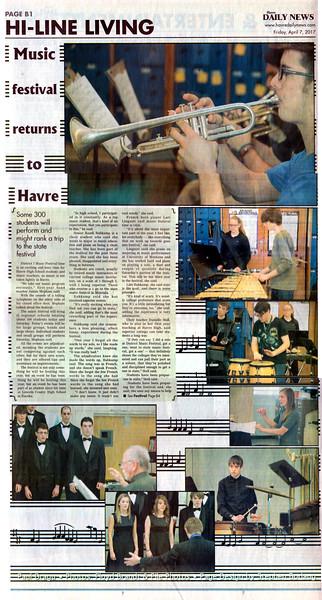 Floyd L Brandt Photojournalist Havre High School music program April 07, 2017 Havre, Montana High Line Living