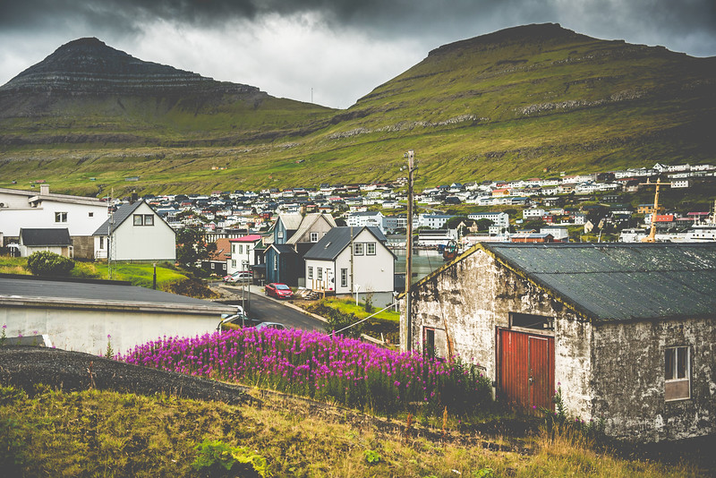 Klaksvík in the Faroe Islands. On our way to beautiful Kalsoy.