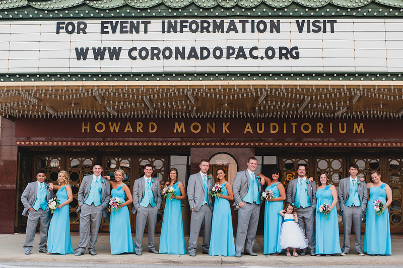 A beautiful fall day in Rockford for a Wedding. We started out in a simple church but quickly transported to downtown Rockford for some image by the Coronado Theater.