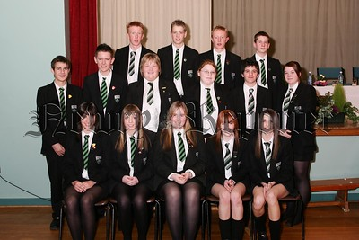 The senior Certificate of Merit award winners at Rathfriland High School prize night.  48-21-06.