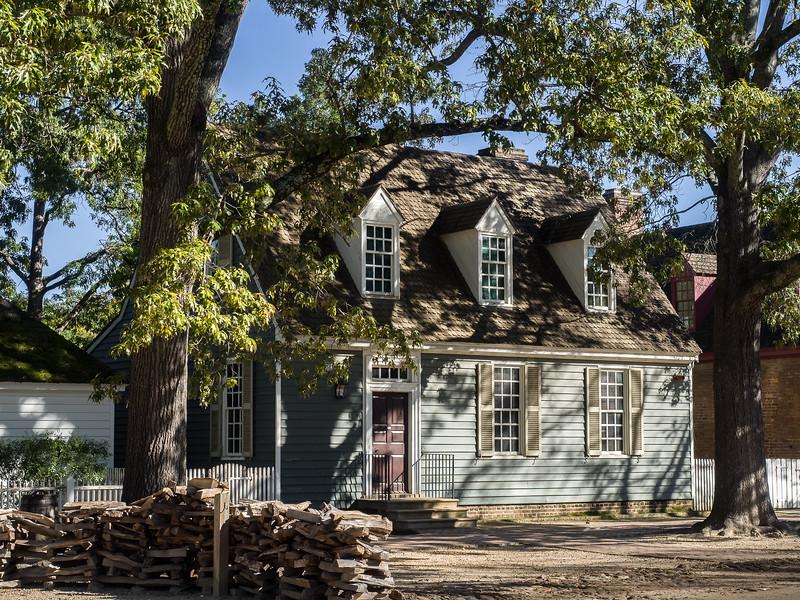 Colonial Home in Colonial Williamsburg Virginia