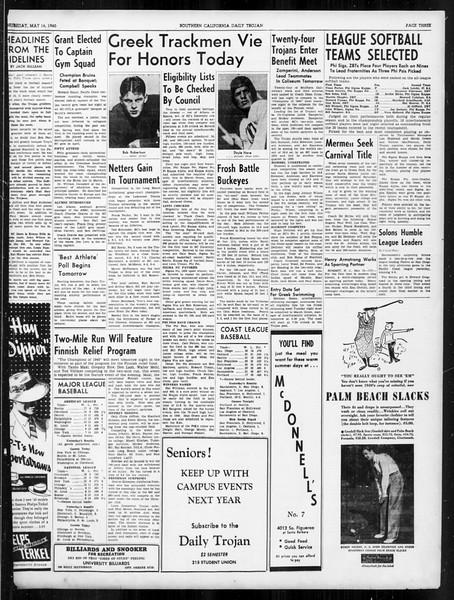 Daily Trojan, Vol. 31, No. 146, May 16, 1940