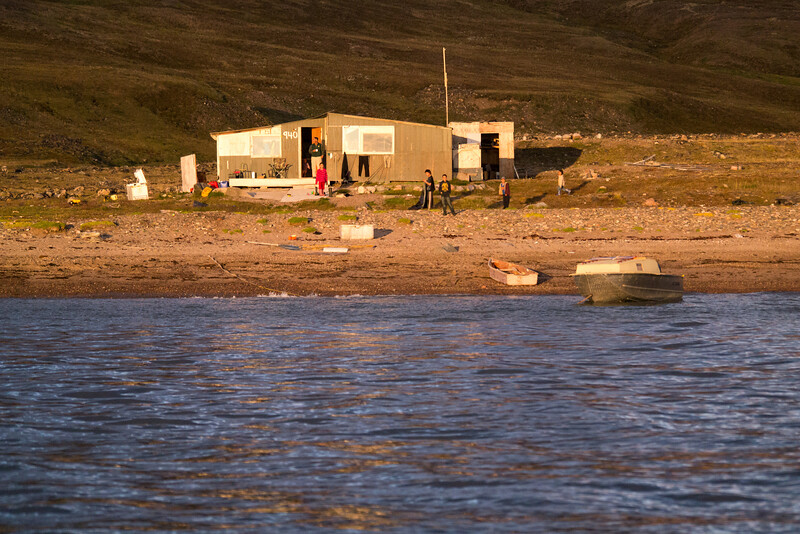 Along the North side of Baffin Island