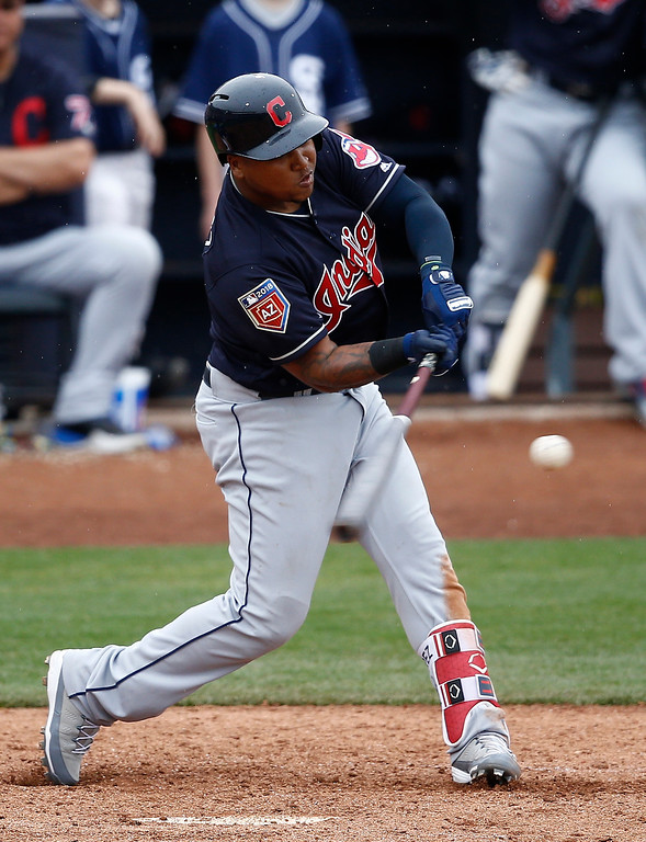 . 2. Third baseman Jose Ramirez: Last season, Ramirez played 152 games, hitting .318 with 29 home runs and 83 RBI � all career highs for the 25-year-old infielder from the Dominican Republic. Ramirez�s 91 extra base hits (56 doubles, six triples and the 28 homers) were the second most ever by a switch-hitter in MLB history. The Indians need the same kind of season from Ramirez this year.  (AP Photo/Ross D. Franklin)