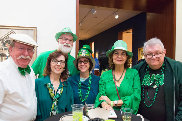 03/15/19 Wesley Bunnell | Staff Celebrating Irish Night at the New Britain Museum of American Art last Friday are John and Dale Whalen, Paul Blaylock, Leslie White, Sonja Blaylock and Homer White.