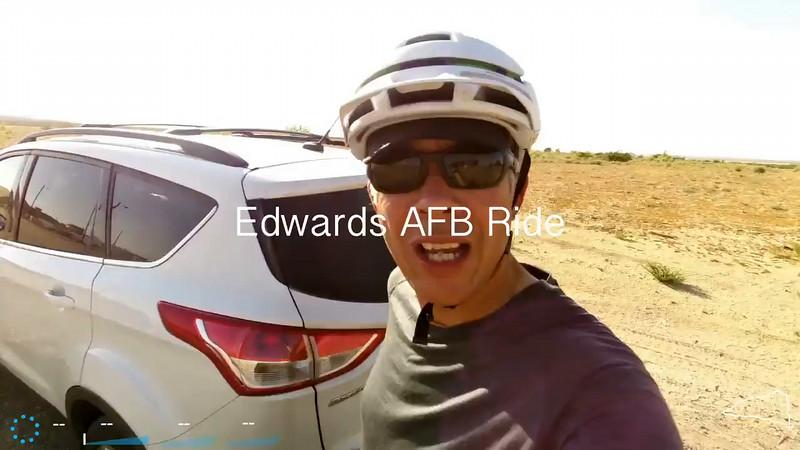 Edwards AFB Biking - 31 August 2014
