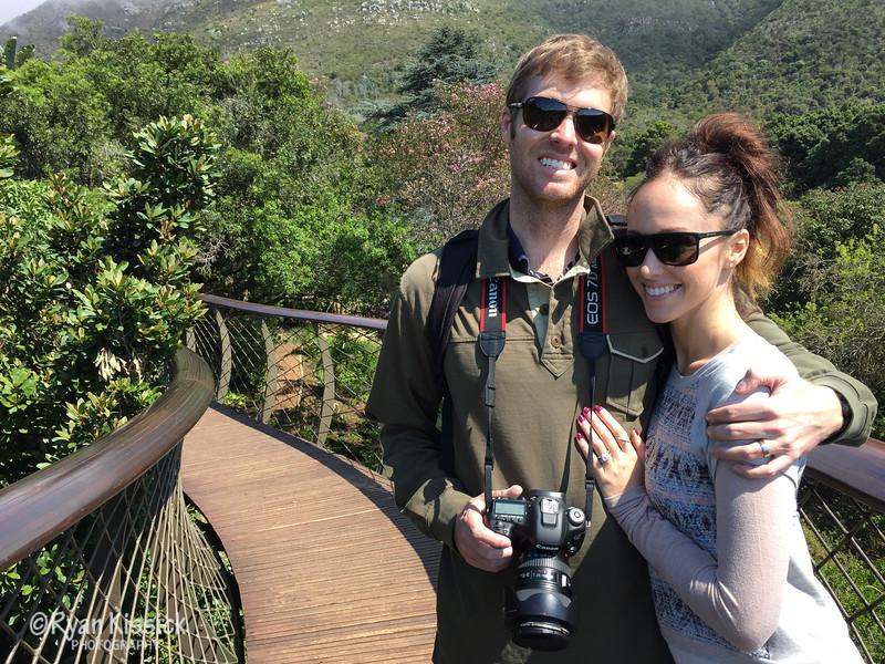 The two honeymooners at Kirstenbosch botanical gardens