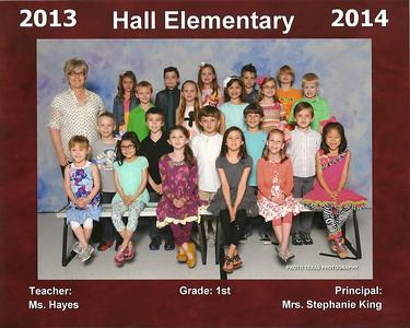2013-2014 Emily 1st Grade Class Photo